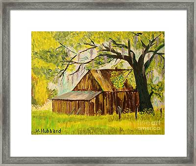 Old Florida Farm Shed Framed Print