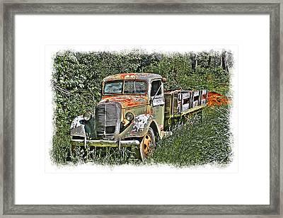 Old Ford Flatbed Framed Print by William Havle