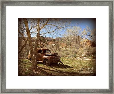 Framed Print featuring the photograph Old Ford by Tanya  Searcy