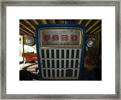 Old Ford Tractor Framed Print by Robert Margetts