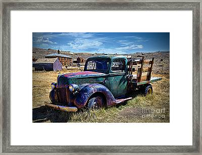 Old Ford V8 Truck Framed Print