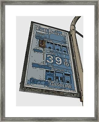 Old Full Service Gas Station Sign Framed Print by Samuel Sheats