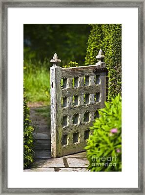 Old Garden Entrance Framed Print by Heiko Koehrer-Wagner