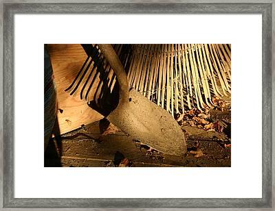 Old Garden Tools In Morning Light Framed Print by Stephen St. John