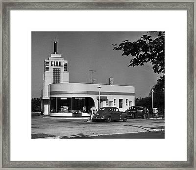Old Gasoline Station Framed Print by George Marks