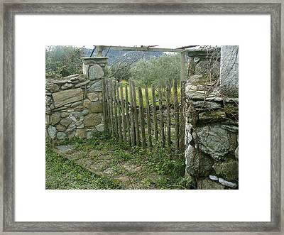 Old Gate On A Greek Island Framed Print by Vasilis-Alekos Korallis