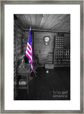 Framed Print featuring the photograph Old Glory by Deniece Platt