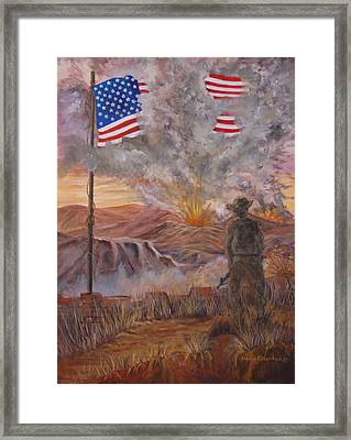 Old Glory Still Flys Framed Print by Janna Columbus