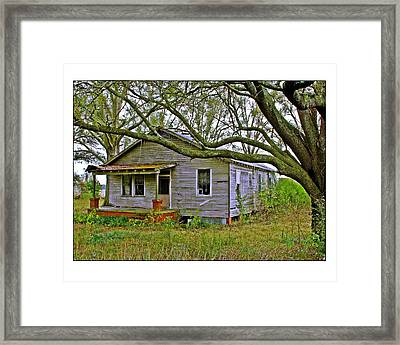 Framed Print featuring the photograph Old Gray House by Judi Bagwell