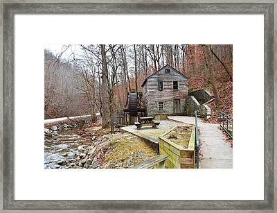 Framed Print featuring the photograph Old Grist Mill by Paul Mashburn