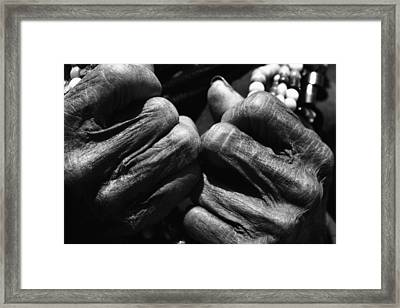 Old Hands 2 Framed Print by Skip Nall