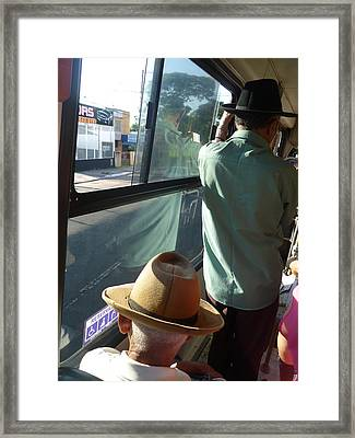 Framed Print featuring the photograph Old Hat by Beto Machado