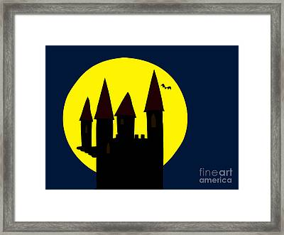 Old Haunted Castle In Full Moon Framed Print by Michal Boubin