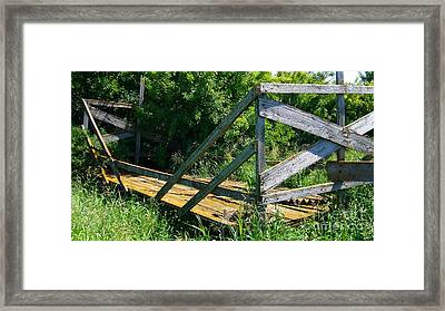 Framed Print featuring the photograph Old Hayrack by Jim Sauchyn