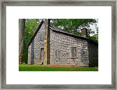 Old Home In Forest Framed Print by Susan Leggett