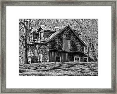 Framed Print featuring the photograph Old House In Adamsville Ri by Nancy De Flon
