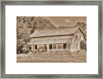 Old House In The Cove Framed Print by Barry Jones