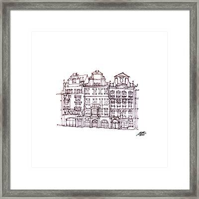 Old Houses Framed Print