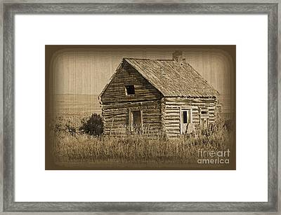 Old Hunting Cabin - Wyoming Framed Print by Donna Greene