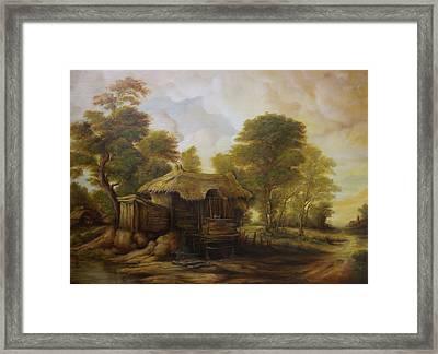 Old Hut  Framed Print
