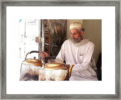 Old Ibb Tea Man Framed Print