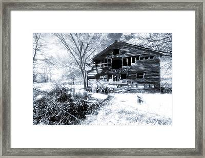 Old Infrared Barn Framed Print by Joe Gee