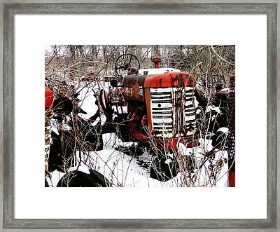 Old International Harvester Tractor Framed Print