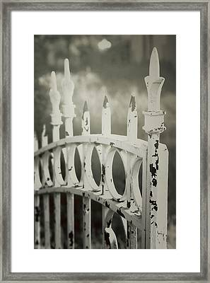 Old Iron Gate Framed Print by Toni Hopper