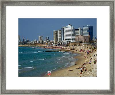 Old Jaffa Beach - Tel Aviv Israel Framed Print by Joshua Benk