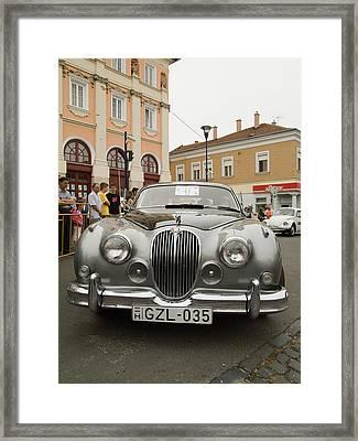 Old Jaguar Framed Print by Odon Czintos