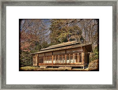 Old Japanese House In Autum Framed Print
