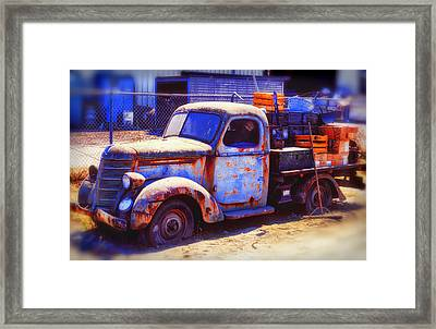 Old Junk Truck Framed Print by Garry Gay
