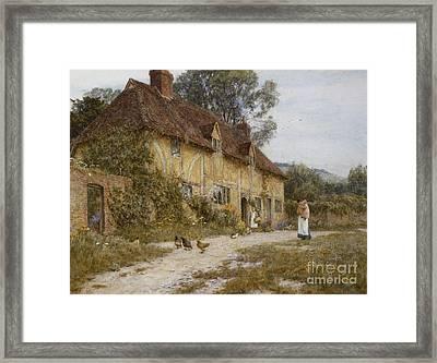 Old Kentish Cottage Framed Print by Helen Allingham