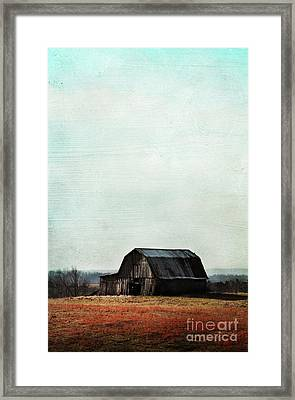 Old Kentucky Tobacco Barn Framed Print