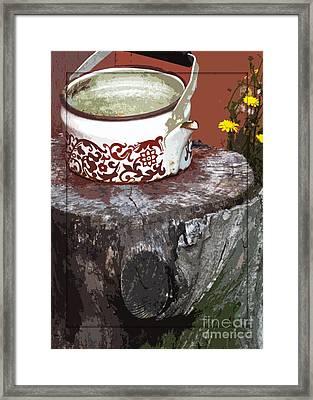 Old Kettle Framed Print by Deborah Johnson
