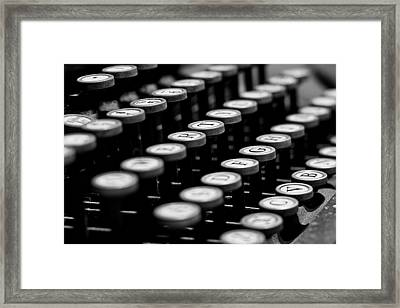 Old Keyboard  Framed Print by David Paul Murray