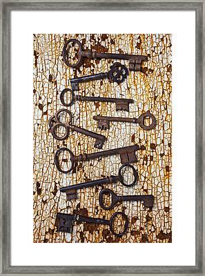 Old Keys Framed Print by Garry Gay