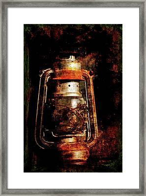 Old Lantern Framed Print by Li   van Saathoff