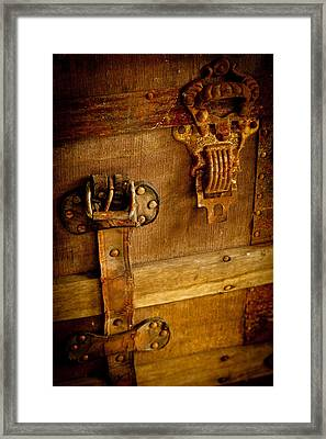 Old Leather And Rust Framed Print by Colleen Crowley