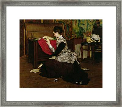 Old Letters And Dead Leaves Framed Print by Claude Andrew Calthorp