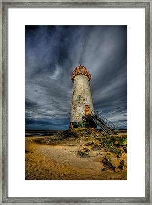 Old Lighthouse Framed Print by Adrian Evans