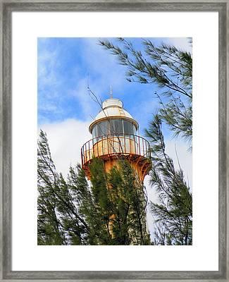 Old Lighthouse Grand Turk Island Framed Print by Rosalie Scanlon