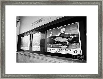 Old Lms And Scottish Railways Posters In Weymss Bay Railway Station Scotland Uk Framed Print by Joe Fox