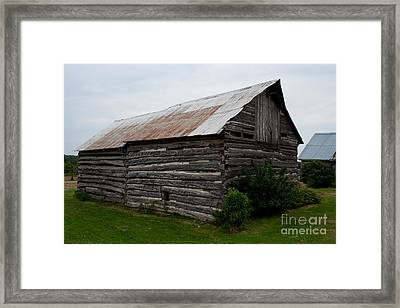 Framed Print featuring the photograph Old Log Building by Barbara McMahon
