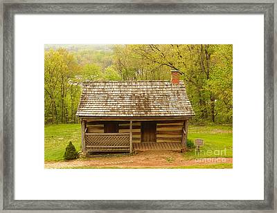 Old Log Cabin Framed Print