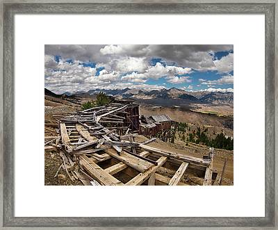 Old Mackay Mine Ore Tramway Framed Print by Leland D Howard