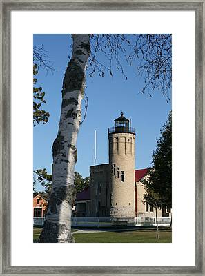 Old Mackinac Point Lighthouse Framed Print by Brady D Hebert