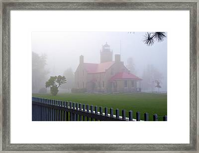 Old Mackinac Point Lighthouse Framed Print by Brian Lambert