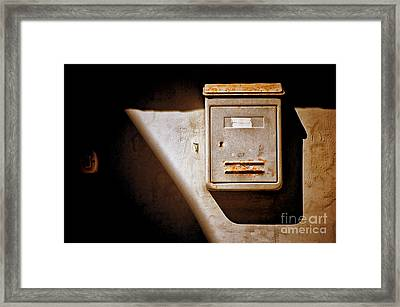 Old Mailbox With Doorbell Framed Print by Silvia Ganora