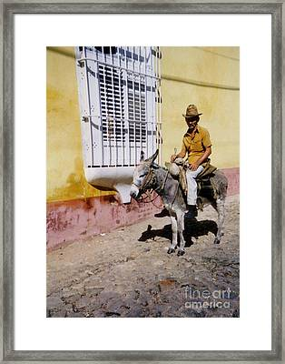 Old Man And His Ride Framed Print